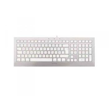 Cherry STRAIT 3.0 FOR MAC USB AZERTY Französisch Silber Weiß JK-0370FR