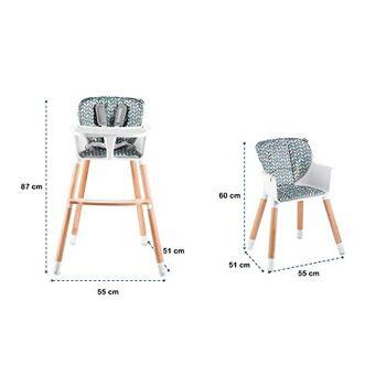 Lionelo Koen 2in1 Baby Hochstuhl Holzbeine Kinderstuhl bis 40kg abnehmbares Tablett Stuhl Sitz Kind Kinder Hochsitz