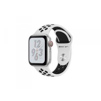 Apple Watch 4 40mm Sil Alu Case w/ Platinum/Black Nike+ LTE MTX62FD/A