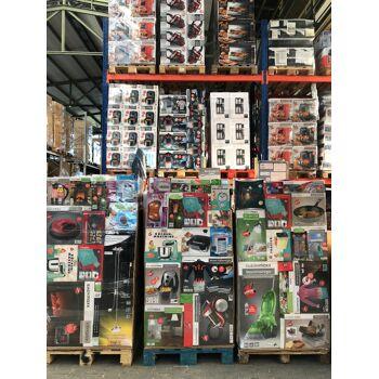 A + B + C Container Ware Elektro Mix Paletten Mischpaletten Haushaltsgeräte LKW für Export Dampfbügelstation, Staubsauger, Wasserkocher etc.