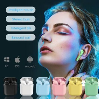 InPods i12 TWS Wireless Bluetooth 5.0 Ohrhörer Kopfhörer Kabellos In Ear Headset Airpods 8 Farben