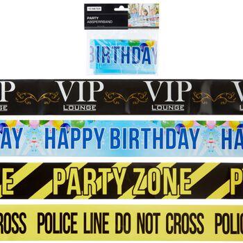 12-41462, Party-Absperrband, 10 Meter, Party, Event, Karneval, Fasching, Fete, Geburtstag, usw.