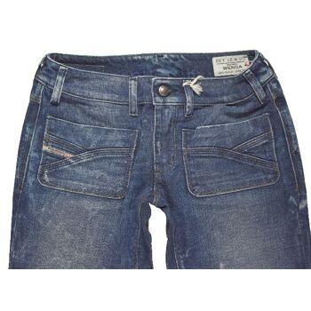 Diesel Wenga Wash 0063F Stretch Jeans Hose W27L32 Damen Jeans Hosen 5-085