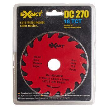 Große Palettenaktion - jetzt wird aufgeräumt - Sägeblatt Exact DC270  18TCT für Holz - 337 Stück