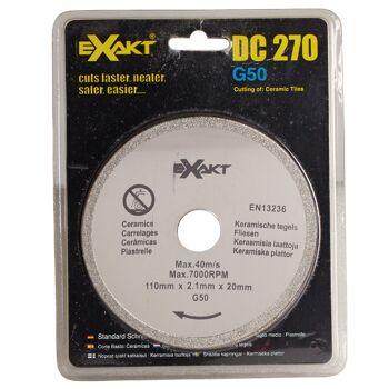 Große Palettenaktion - jetzt wird aufgeräumt - Sägeblatt Exact DC270  G50 für Fliesen - 666 Stück