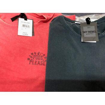 Herren  T-Shirt  Rebel  Thilo Pool Please  Rot und Schwarz