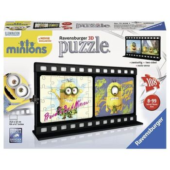 "Minions - 3D Filmstreifen 108 Teile Puzzle ""Natura"""