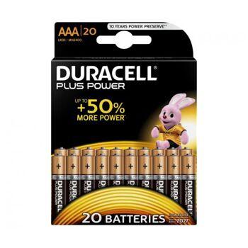 Duracell Batterie Alkaline Micro AAA LR03 1.5V Blister (20-Pack) 020146