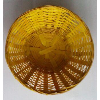 12-53861, Osterkorb 20cm gelb, Osterkörbchen, auch als Brotkörbchen, für Obst, Nüsse, Naschereien, Dekoration, SONDERPOSTEN