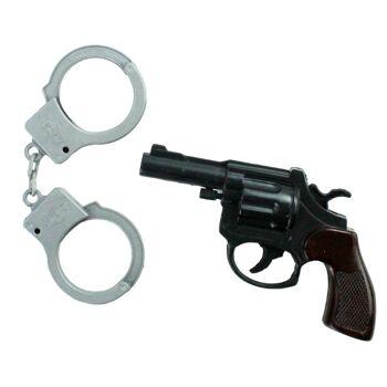 27-80452, Polizei Set, Pistole mit Handschellen