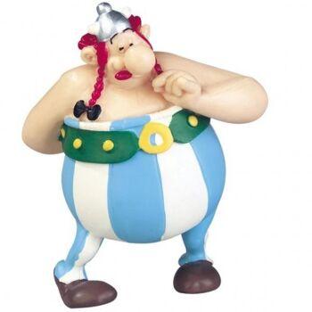 Asterix & Obelix - Figur Obelix mit Blumenstrauß