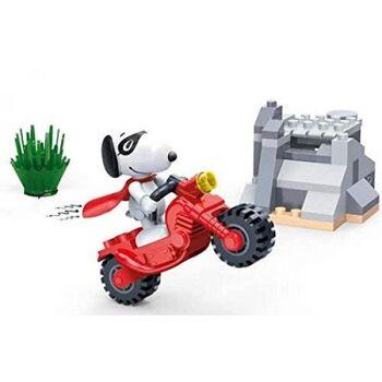 BanBao 7533 - Baukasten, Snoopy Motorrad Stunt