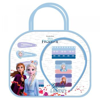 Disney Frozen 2 / Die Eiskönigin 2 - Tasche mit Haarschmuck