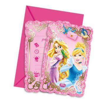 Disney Princess Dreaming - 6 Einladungskarten mit Umschlag