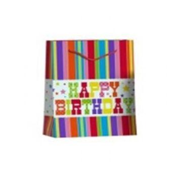 Einkaufstasche / Einkaufstüte M Happy Birthday (VE 12)