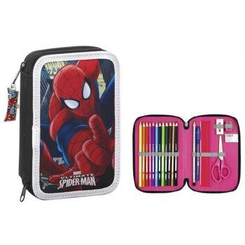 Marvel Ultimate Spiderman - Federmäppchen mit Inhalt (34 teilig)
