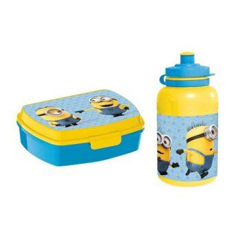 Minions - Set: Jausenbox + Trinkflasche 440 in Geschenkpackung