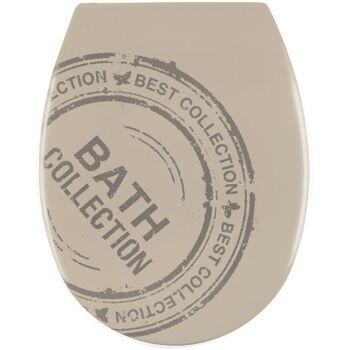 Sanwood WC-Sitz VINTAGE Taupe mit Absenkautomatik Duroplast