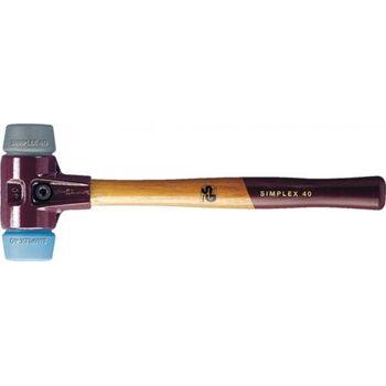 HALDER Schonhammer SIMPLEX, Länge 350 mm Kopf-D. 50 mm, mittelhart Holz