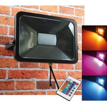 LED-Fluter SlimLine ''CTF-SL50W RGB'' IP44, 230V, RGB mit Fernbedienung