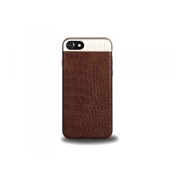Schutzhülle für iPhone 7+8, Leder Design (Braun)
