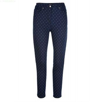Jeans mit Minimal-Druck rundum