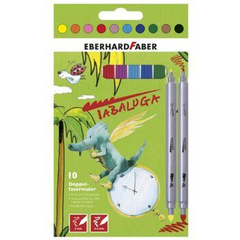 12-550011, FABER TABALUGA Doppel Fasermaler 10er Pack, 2in1, dick und dünn, Malstifte
