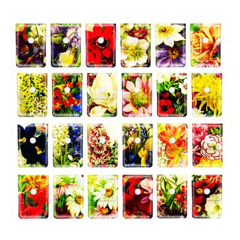 12-246301, EVA Taschenascher Mini Flowers, Taschenaschenbecher