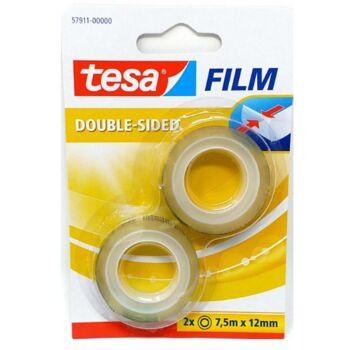 12-57911, tesa Film transparent doppelseitig klebend 2x 7,5mx12mm