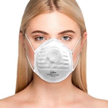 FFP2 Atemschutzmaske mit Ventil Atemmaske Corona Maske ...