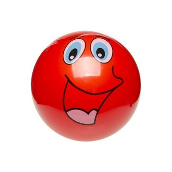 21-8751, PVC Ball 23 cm, mit Gesichtern, Fußball, Beachball, Spielball, Fussball, Wasserball