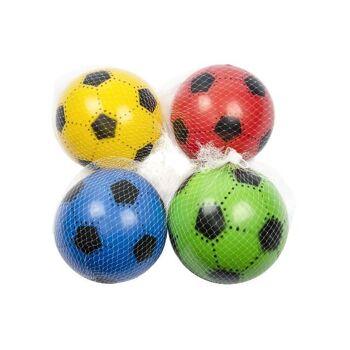 21-8753, PVC Ball 23 cm, Fußball, Beachball, Spielball, Fussball, Wasserball, Aufblasball