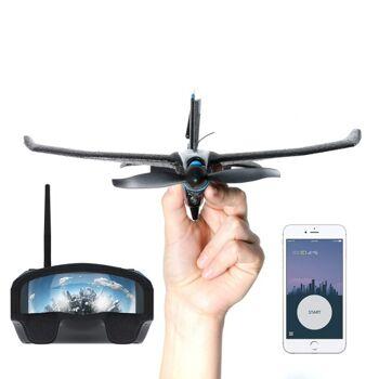TobyRich SmartPlane Pro FPV: Smartphone App gesteuertes VR Stuntflugzeug - ferngesteuerte Virtual Reality Drohne für iOS und Android
