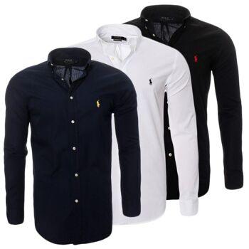 Polo Ralph Lauren Herren Hemd Freizeithemd Slim-Fit