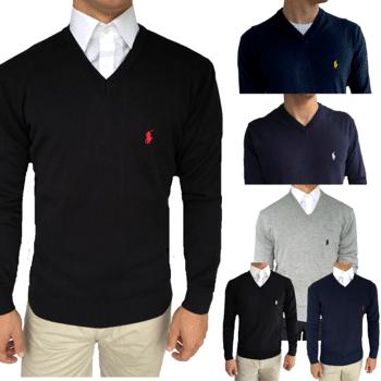 Ralph Lauren Custom Fit Pullover mit V-Ausschnitt für Herren