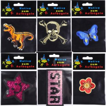 28-260905, Bügelflicken lustige Tiermotive, in verschiedenen Formen