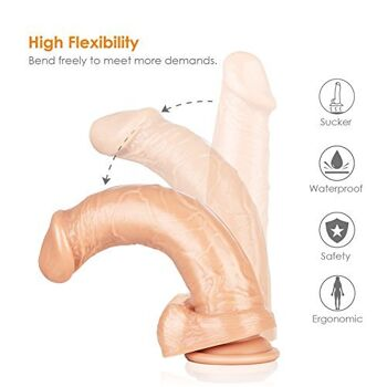ASTER Sexspielzeug mit Saugnapf und medizinischem Silikon