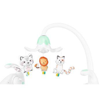 Lionelo Robin braun Babyschaukel mit Spieluhr Mp3 + Licht Schaukel Wippe Babywippe mit Moskitonetz 0-9kg Babywiege Baby Wiege Kinderschaukel