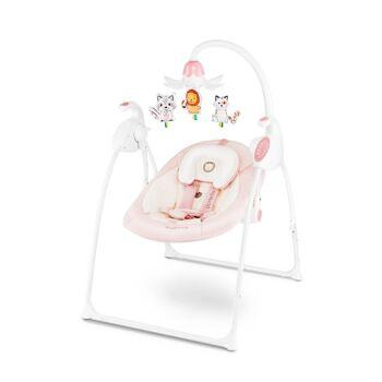 Lionelo Robin pink Babyschaukel mit Spieluhr, Musik - Schaukel Wippe Babywippe mit Moskitonetz 0-9kg Babywiege Baby Wiege Kinderschaukel