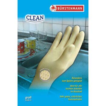 12-9410007, Gummihandschuh clean klein, Gr. 7, ideal für den Haushalt, besonders zum Spülen geeignet, Bürstenmann