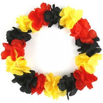 Blütenkette Hawaii-Kette Deutschland Germany schwarz rot gold Fußball Fussball EM WM Fan Party Stadion