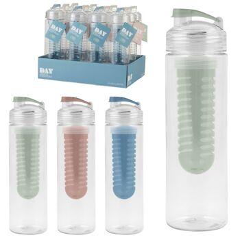 28-752323, Trinkflasche 700 ml, mit Einsatz, Sportverschluss, praktische Wasserflasche für unterwegs