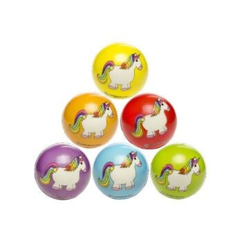 21-4705, Softball Einhorn Motive 6 cm, ANTI-STRESS BALL, Knautschball, Knetball