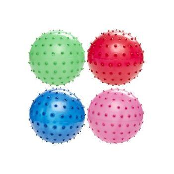 21-4817, Noppenball 16 cm Fussball, Beachball, Strandball, Stachelball, Massageball, Wasserball, Wurfball, Spielball
