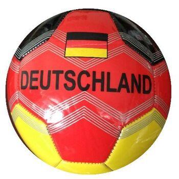 21-4842, Lederball Deutschland 15 cm, Fussball, Fußball, Handball, Wasserball, Spielball, Strandball