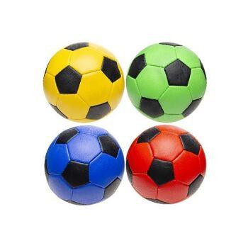 21-4851, Leder Fussball 22 cm, Lederball, Handball, Fußball, Wasserball, Spielball, Strandball