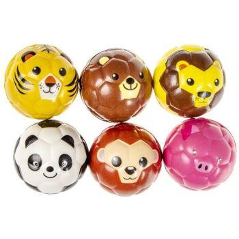 21-4862, Softball Tiere 6,5 cm, Springball, Spielball, Antistress Ball, Wasserball, Knautschball, Knetball