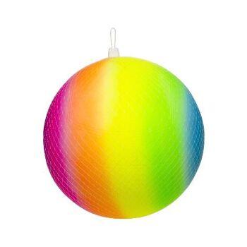21-4865, Regenbogenball 25 cm, Gummiball, Wasserball, Strandball, Fussball, Spielball