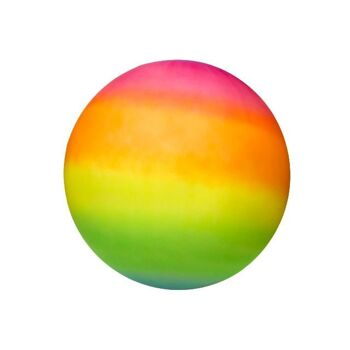 21-4866, XL Regenbogenball 40 cm, Gummiball, Wasserball, Strandball, Fussball, Spielball