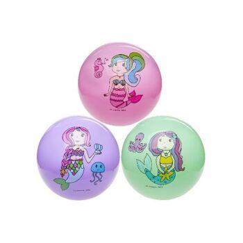 21-4871, Fussball Meerjungfrau 23 cm, Fußball, Strandball, Wasserball, Spielball